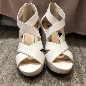 White Classic Wedges
